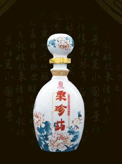 安徽粉彩牡丹白瓶