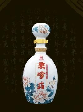 粉彩牡丹白瓶